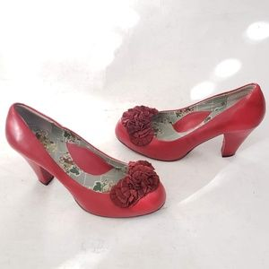 Miss L Fire 🔥 London England Red Heels Size 40